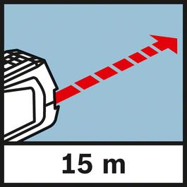 Working range Range of up to 15 m