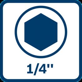 """1/4"""" internal hexagon tool holder"""