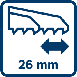 Stroke length 26 mm