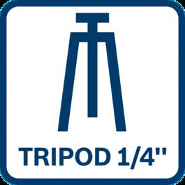 """Tripod compatible 1/4"""""""
