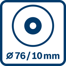 Disc diameter 76 mm