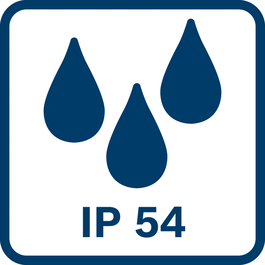 IP54 dust and splash water protection