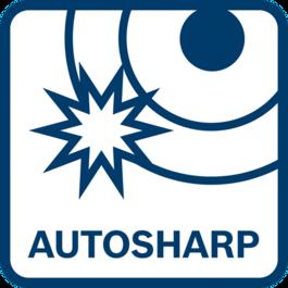 Superior cutting performance due to self-sharpening autosharp blade