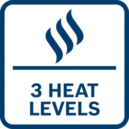Three heat levels to optimize comfort in cold weather