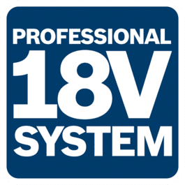 18V system compatible with Bosch Professional batteries in the same voltage class