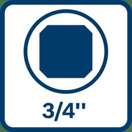 Bit insertion square, bit holder, external square