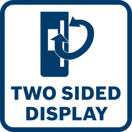 Two sided display for convenient laser detection