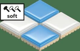 Soft tiles
