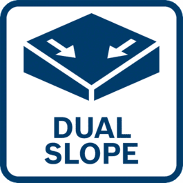 Dual slope for creating inclined surfaces in two axes