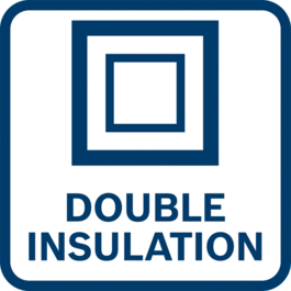 Two layers of insulating material surrounding live parts or reinforced insulation. Does not require a connection to electrical earth (ground)