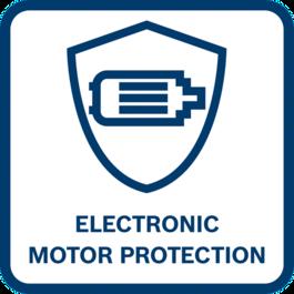 Long motor lifetime Long motor lifetime because motor shuts off when overloaded, overheated or blocked