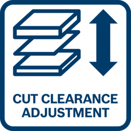 Optimum adjustment thanks to settable cutting clearance to suit the thickness of the material