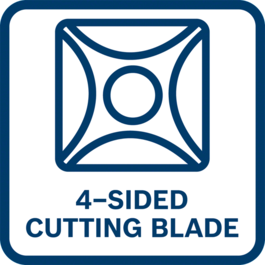High productivity due to reversible blade with 4 cutting edges for excellent cutting results and longer lifetime